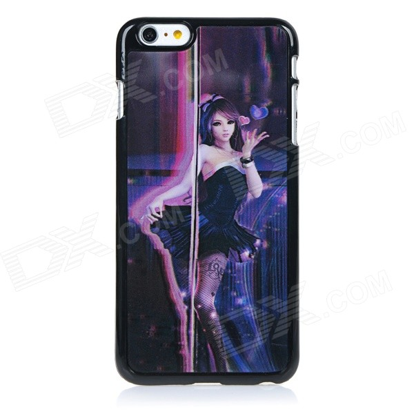 3D Pole Dancing Girl Pattern Protective ABS + PC + PET Back Case Cover for IPHONE 6 PLUS - Black 2015 wholesale back to heaven demon college dxd leah redrawing wire pole dancing editions of hand box