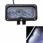 GULEEK 40W 3000lm 6000K 4-LED White Spot Beam Working Light for Car / Boat (10-30V)