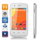 "M-HORSE S52 3.5 ""Screen Android 4.4 Single-Core ist heiß, Baby w / TF, Doppel-SIM - Weiß + Silber"