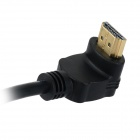 HDMI 1.4 Male to Female HD Connecting Adapter Cable - Black (15cm)