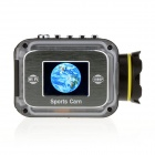 "EOSCN 1080P Waterproof 12MP Wi-Fi Sports Camera w/ 1.5"" LTPS LCD / 1000mAh Battery - Black"