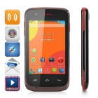 "M-HORSE S52 3.5"" Screen Android 4.4 Single-Core Smart Phone w/ TF, Dual-SIM - Black + Red"