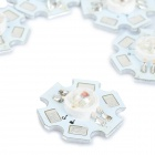JRLED 3W 100lm 5-LED RGB Light Emitter Boards - White + Silver (5PCS)