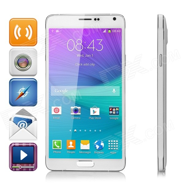 I9199 5.7 IPS Snapdragon Octa-Core Android 4.4.4 Smart Phone w/ 1GB RAM, 8GB ROM, Dual-Cam - White кто мы жили были славяне