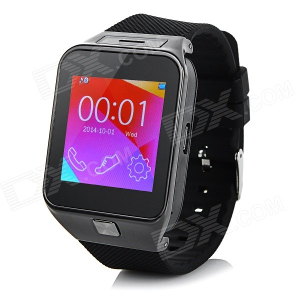 M9 1.54 Touch Screen Smart GSM Watch Phone w/ Bluetooth, TF - Black + Grey i5 gsm wrist watch phone w 1 8 resistive screen quad band single sim and fm black