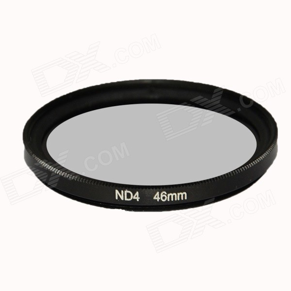 DSTE 46mm ND4 Neutral Density Filter for Camera Lens - Black zomei 6in1 filter kit 67mm ring holder 150x100mm gradual nd4 full nd2 nd4 nd8 neutral density square nd filter for cokin z