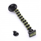 "Rotary 1/4"" Car Suction Cup Mount w/ Adapter for GoPro - Army Green"