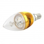 E14 3W Warm White Light LED Candle Bulb - Golden (6PCS)