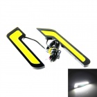 """7"" Style 6W 200lm 6500K White Light 2-COB LED Daytime Running Light for Car (2 PCS / 12V)"