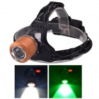SingFire SF-647O 2-LED 5V USB Zooming White + Green 3-Mode 250lm Hunting Headlamp - Orange (2x18650)