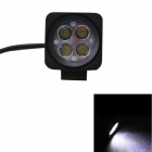 GULEEK 12W 900lm 6000K 4-LED White Flood Beam Work Light for Car / Boat (10-30V)