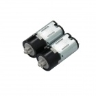 10mm Mini DC 3.0V 60RPM Plastic Gear Motors - Black (2 PCS)