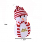 Snowman Decoration Ornament for Christmas Tree - White + Red
