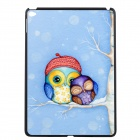 Elonbo U16W129 Two Owls Pattern Plastic Hard Back Case for IPAD AIR 2 - Light Blue + Multicolored