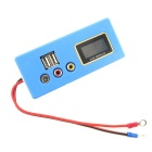 E5 Dual USB 12V Car Battery Remaining Capacity Tester - Blue