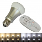 JIAWEN 7W E27 650lm White + Warm White Dimmable LED Smart Bulb w/ Remote Controller (AC 85~265V)