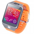 "Aoluguya G2 1,54"" Smart Touch Watch w / fréquence cardiaque Monitor/Pedometer/Bluetooth/0.3MP appareil photo - Orange"