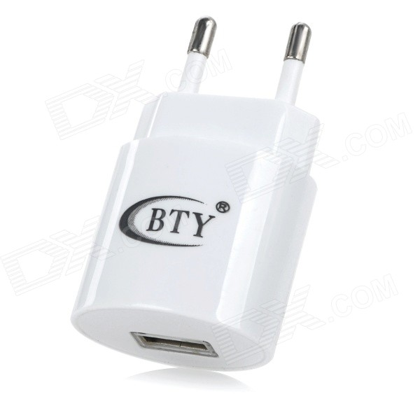 BTY BTY - M506 Universal 1.2A / 5V Power Adapter w / USB Port - White ( 100 ~ 240V / UE Plug )