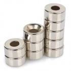 10X5-3MM Cylindrical NdFeB N35 Magnet w/ Hole - Silver (10 PCS)