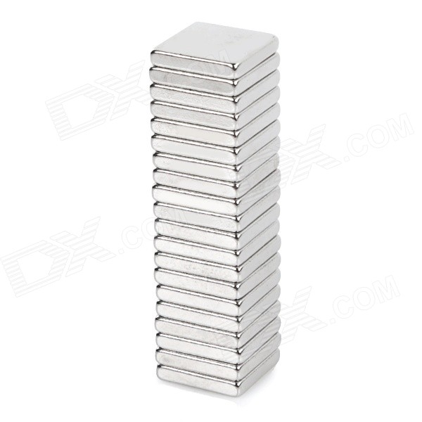 10 x 10 x 2mm Square NdFeB N35 Magnet - Silver (20PCS) cvd znse co2 laser focus lens with diameter 18mm focus length 76 2mm thickness 2mm