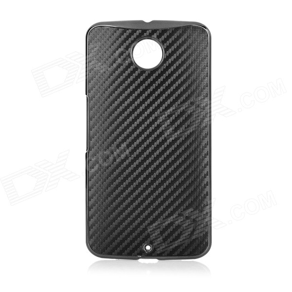 Protective Plastic Back Case for Google Nexus 6 - Black
