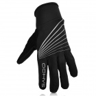 SAHOO 42902 Fashion Windproof Full-Finger Cycling Gloves - Black (Size XXL)