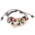 Cupidon ornement Split cuir Bracelet mode - café + brun + multi-couleur