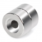 20 x 10mm Cylindrical NdFeB N35 Magnet w/ Hole - Silver (2PCS)