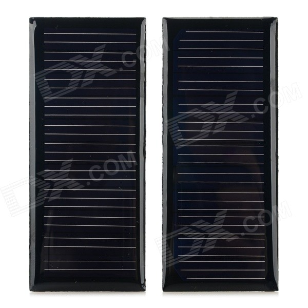DIY 0.88W 5.5V 160mA Solar Powered Panel - Black (2 PCS)Solar Powered Gadgets<br>Form ColorBlackModelN/AMaterialMonocrystalline silicon + circuit board + epoxyQuantity2 DX.PCM.Model.AttributeModel.UnitPower0.88 DX.PCM.Model.AttributeModel.UnitWorking Voltage   5.5 DX.PCM.Model.AttributeModel.UnitWorking Current160 DX.PCM.Model.AttributeModel.UnitPacking List2 x Solar powered battey panel<br>