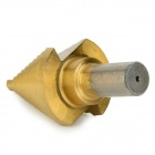 High Speed Steel Step Drill Bit Cutting Tool - Golden