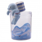 NEJE ZJ0059-5 Cute Dolphin Style Self-watering Plant Pot Planter w/ Straw / Cup - Blue