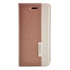"Stylish Contrast Color PU Leather Full Body Case for IPHONE 6 4.7"" / 6S - Brown + White"