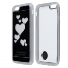 "Love Heart Pattern ABS Back Case w/ LED Flash Light for IPHONE 6 4.7"" - Black + White"