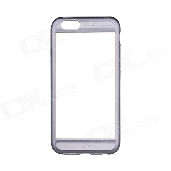 USAMS PC protection ultra-mince + Etui pare-chocs cadre TPU pour IPHONE 6 - gris