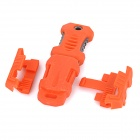 Buckle Pocket Shiv & Adapter for Molle Woven Strap Webbing - Orange