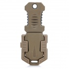 Buckle Pocket Shiv & Adapter for Outdoor Molle Woven Strap Webbing - Sandy