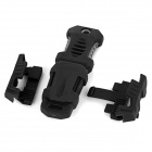 Buckle Pocket Shiv & Adapter for Molle Woven Strap Webbing - Black