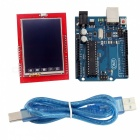 "Board Module + 2.4"" TFT LCD Touch Screen Shield Expansion Board for Arduino UNO R3 - Blue + Red"