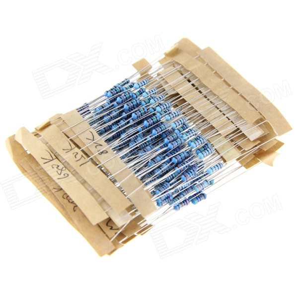 DIY 1 / 4W color Anillo Carbon Film Resistencias Set - Azul ( 25 x 10PCS )