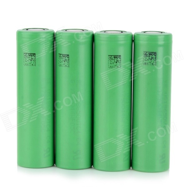 3.7V 1700mAh recargable 18650 Li-ion - Verde (4 PCS)