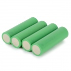 C5 3.7V 2200mAh Rechargeable 18650 Li-ion Batteries - Green (4 PCS)
