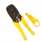 BESTIR  BST-01117 Modular Crimping Pliers for 4P4C/6P6C/8P8C Network Cable - Black + Yellow