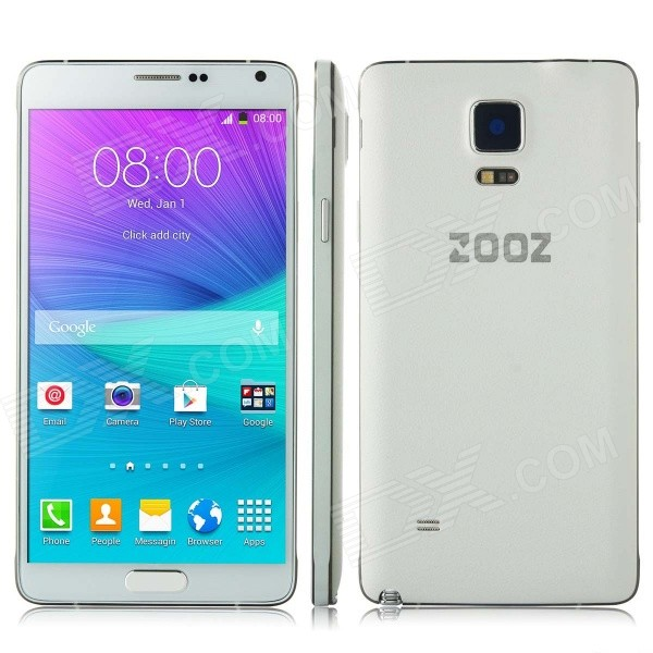 ZOOZ N910F Android 4.4 Quad Core 3G Phone w/ 5.7, 8GB ROM, GPS, Bluetooth, WiFi - White zooz n910f android 4 4 quad core 3g phone w 5 7 8gb rom gps bluetooth wifi black