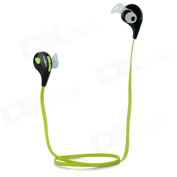 Nameblue T-1 Bluetooth V4.0 In-Ear Music Sports Headphone - Black + Green nameblue st 33 sports bluetooth v4 0 in ear earphone headphone set w microphone volume control