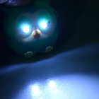 Cute Owl Style 10lm 2-LED White Light Keychain w/ Sound Effect