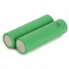C4 3.7V 1700mAh Rechargeable 18650 Li-ion Batteries - Green (2 PCS)