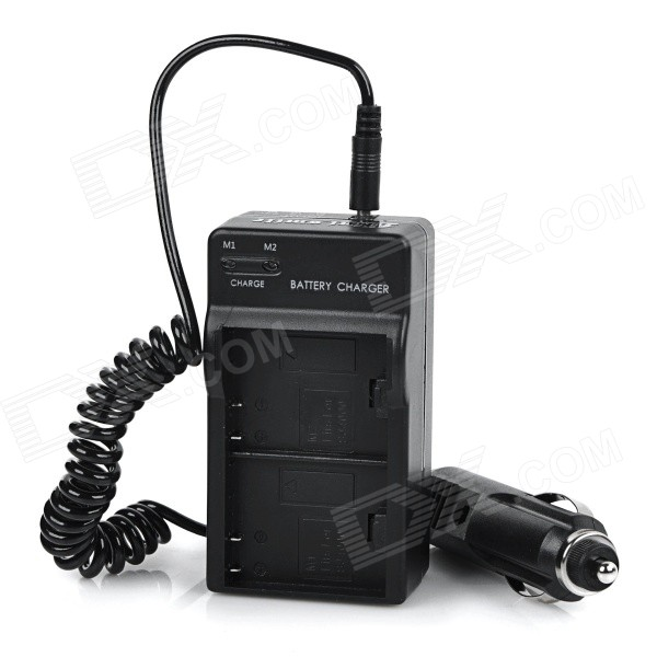 Dual-Slot Charger w/ Car Charger for SJ4000 - Black (US Plugss)