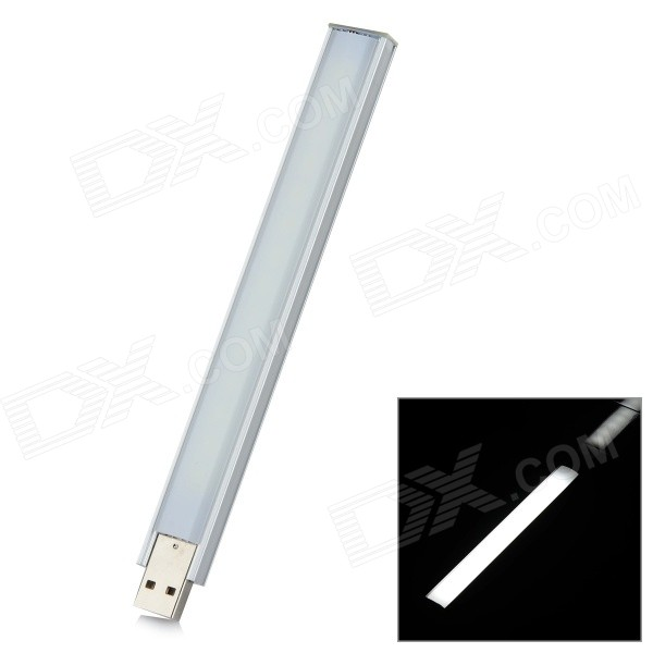 L-07 2.5W 100lm 6300K 14-LED White Light USB Night Lamp - Silvery WhiteUSB Lights<br>Form  ColorSilver WhiteModelL-07Quantity1 DX.PCM.Model.AttributeModel.UnitMaterialAluminum alloy + ABSShade Of ColorSilverLight ColorWhiteLED QtyOthers,14Light Mode1Powered ByUSBLumens100 DX.PCM.Model.AttributeModel.UnitPower2.5 DX.PCM.Model.AttributeModel.UnitOther FeaturesColor temperature: 6300K.Packing List1 x USB night lamp<br>