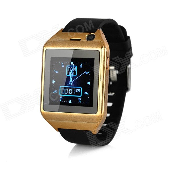 D18 1.54 Screen GSM Smart Watch Phone w/ TF, Bluetooth, 300KP Cam - Black + Gold diweinuo d6 bluetooth v3 0 mtk6260a gsm smart watch phone w 1 54 mipi hd screen black