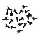 6 x 6 x 12mm Slightly Touch Button Tact Switches - Black (20 PCS)